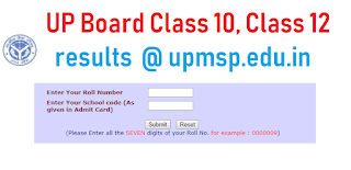 UP Board Class 10, Class 12 results 2019 @ upmsp.edu.in,