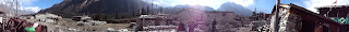 Panoramic picture of the manaslu trek Nepal.