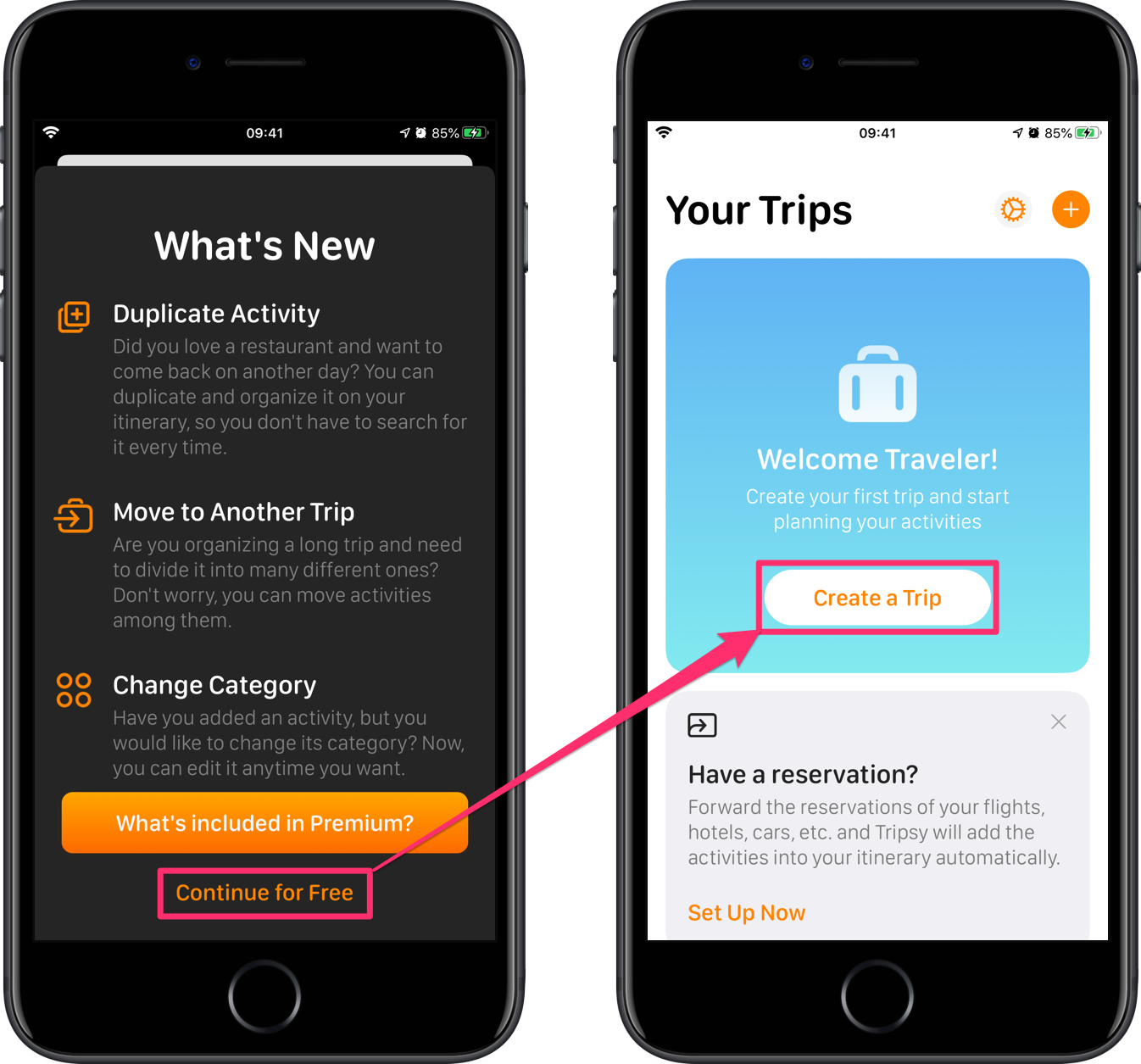 Tripsy 旅遊規劃 app