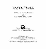 East of Suez, 1922 Doran (proofread) - W. Somerset Maugham