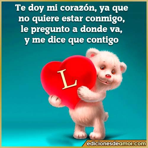 te doy mi corazón L