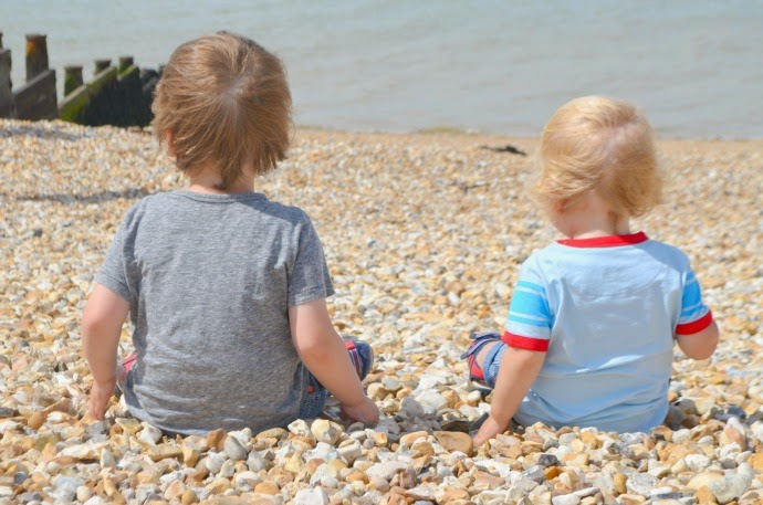 whitstable beach, adventures in whitstable, toddlers on the beach, brothers