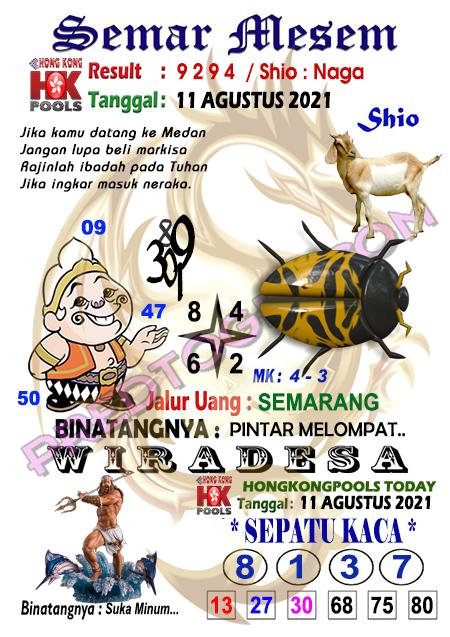 Syair Semar Mesem HK Malam Ini 11-Agt-2021