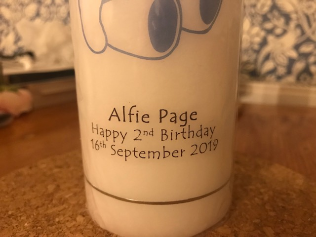 Candle, Personalised Candle, Brinley Williams,