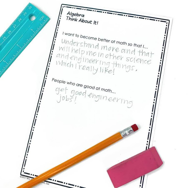 I love finding first day of school math activities! These back to school activities are perfect for middle school or high school math.