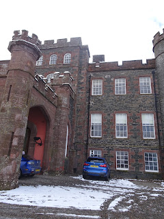 huge turrets on stobo castle hotel and spa