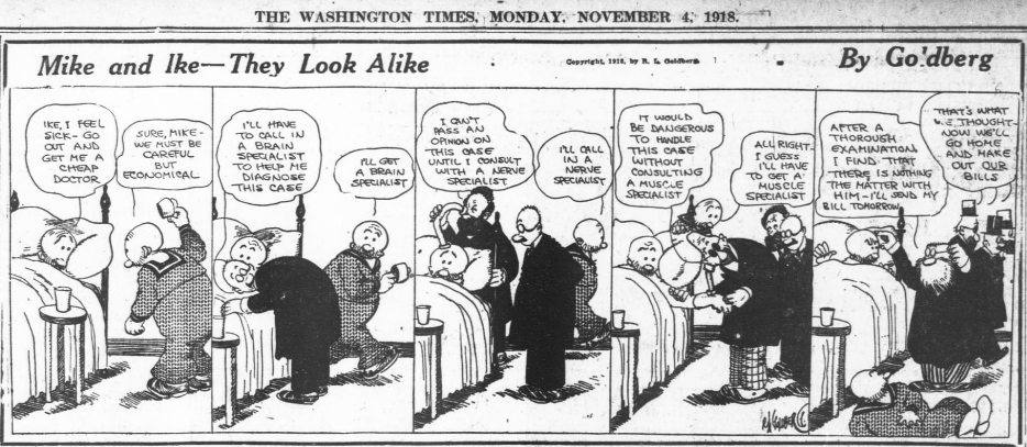 Mike and Ike - Washington Times - 4 November 1918