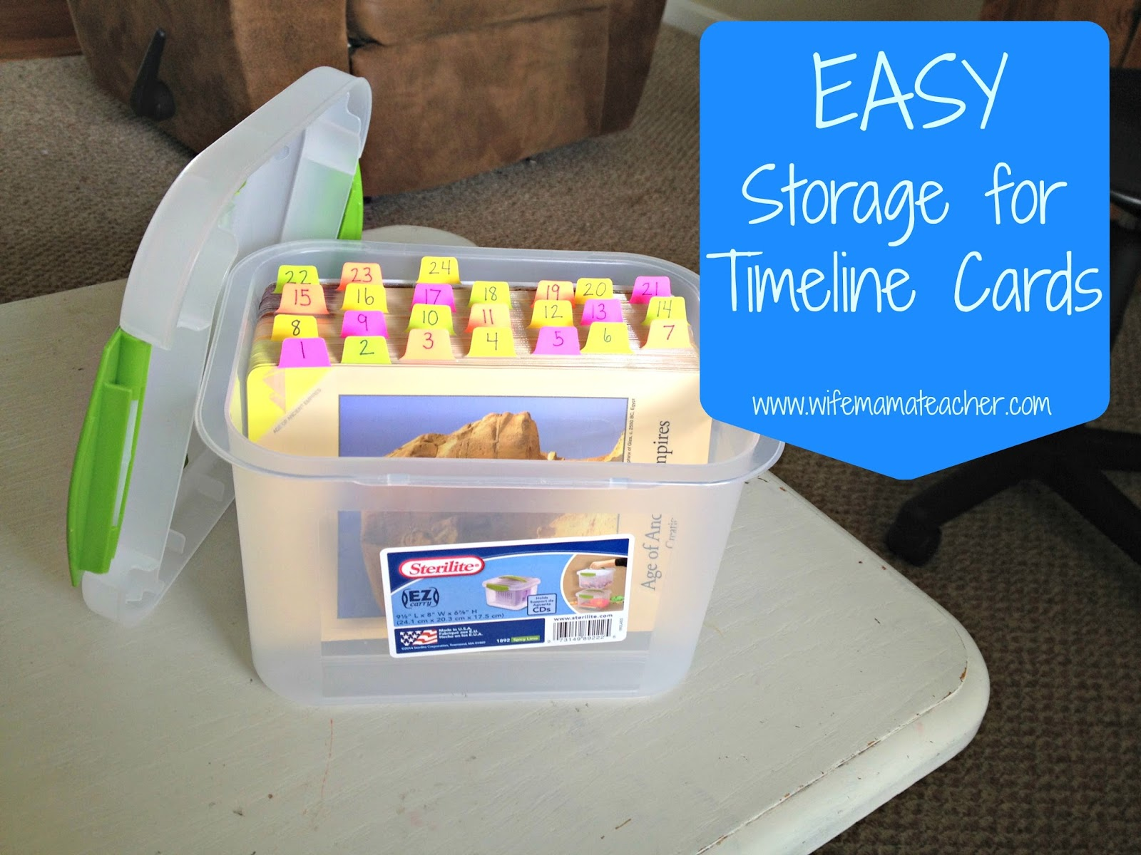 Wife Mama Teacher Easy Inexpensive Storage Idea for Classical