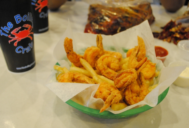 The Boiling Crab, Los Angeles, Koreatown, LA, California, seafood, restaurant, food, fried shrimp, cajun fries