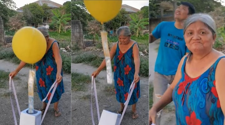 Nanay Aida got a money balloon surprise for Mother's Day