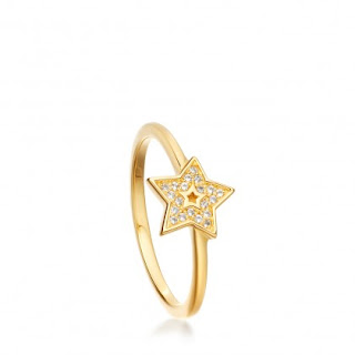 Gold vermeil - Mini Star Biogrpahy ring Astley Clarke - Outlet