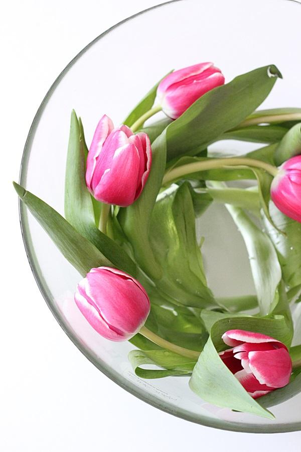 pinkki tulppaanit tulips kukkapyörre maljakko