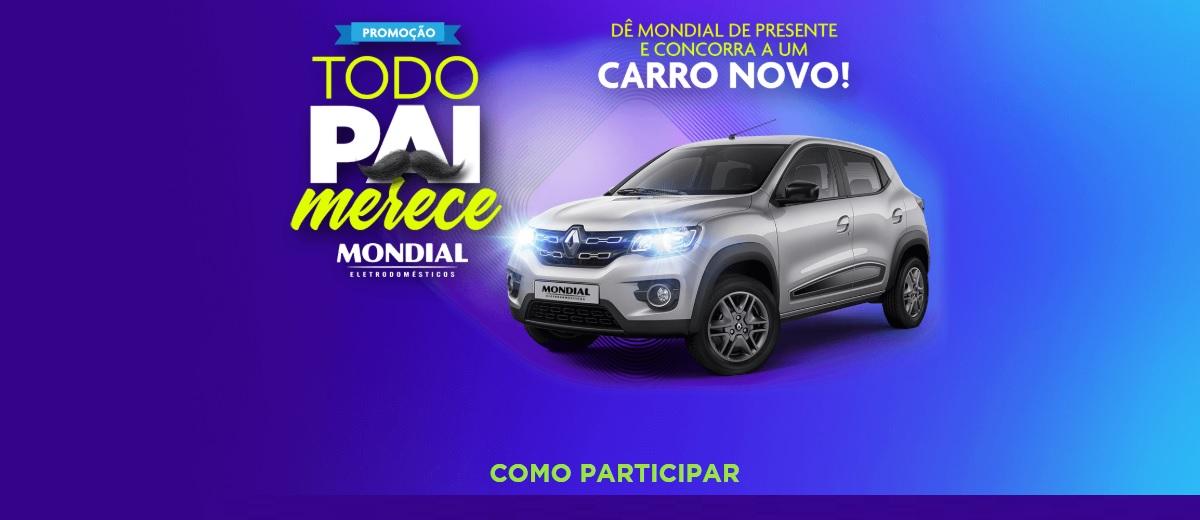 Cadastrar Promoção Dia dos Pais Mondial Carro Novo