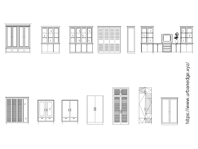 Cupboards free cad blocks download - 10+ Dwg Models