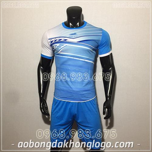 Áo bóng đá ko logo Zuka Korel màu xanh dương