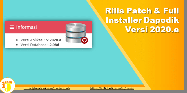 Rilis Patch & Full Installer Dapodik Versi 2020.a
