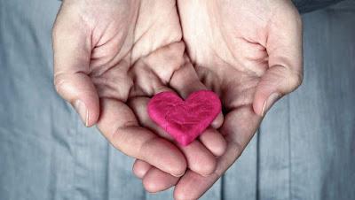 تشابك الايدى وتقديم القلب