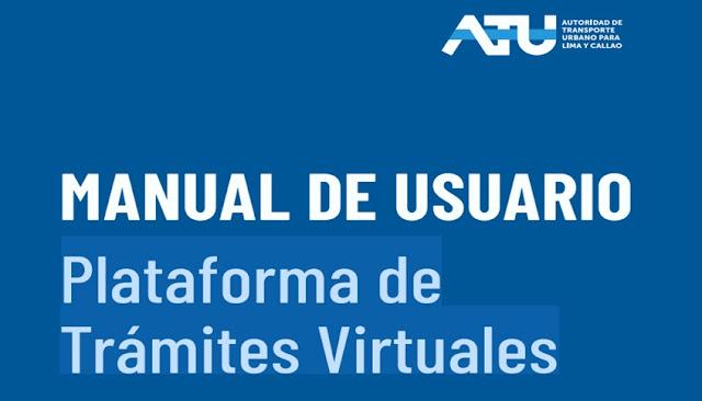 ATU: Link de plataforma tramitar credenciales de conductores y cobradores