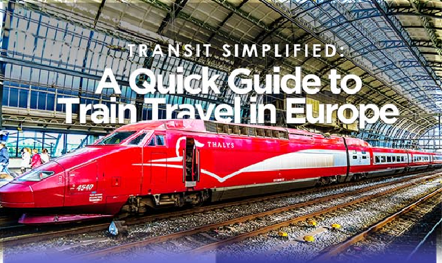A Quick Guide To Train Travel in Europe #infographic
