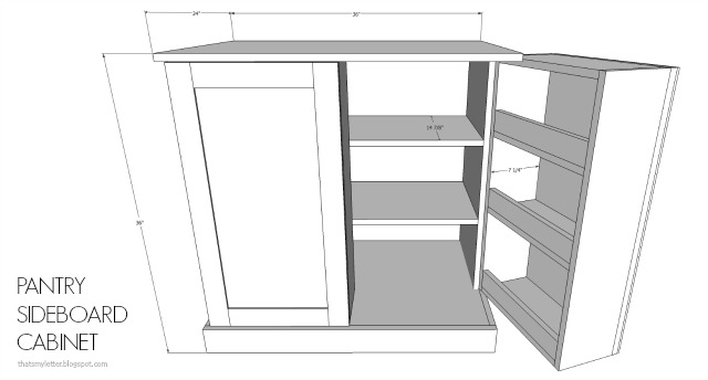 diy pantry sideboard cabinet free plans