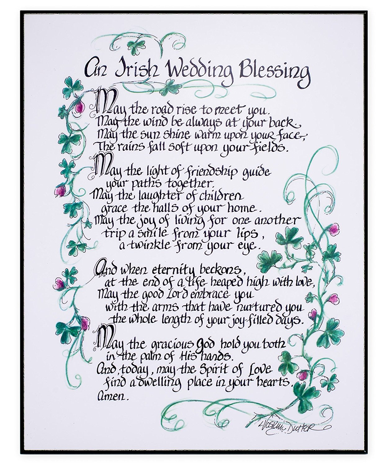 Irish Wedding Blessing Poem