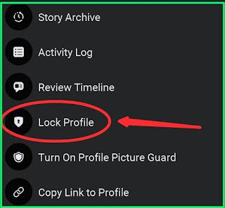 Facebook profile option
