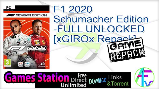 F1 2020 Schumacher Edition-FULL UNLOCKED [xGIROx Repack]