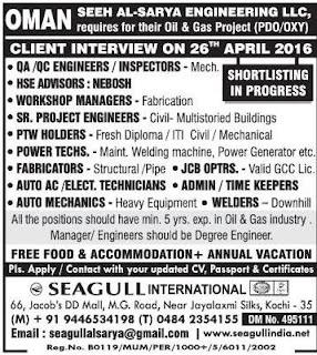 Vacancies in Seeh al-sarya engineering llc Oman