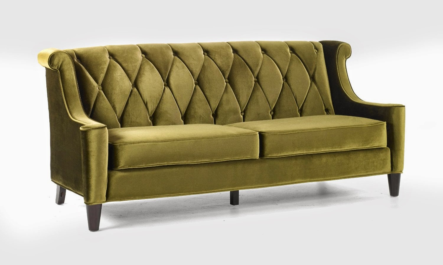 Velvet Grey Tufted Sofa Costco Beds Couch Green