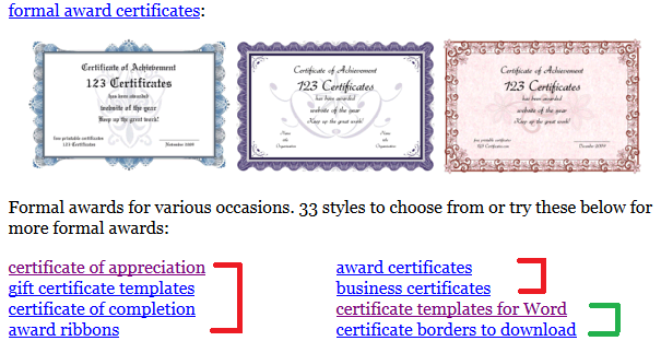 English World: Certificate Templates and Maker