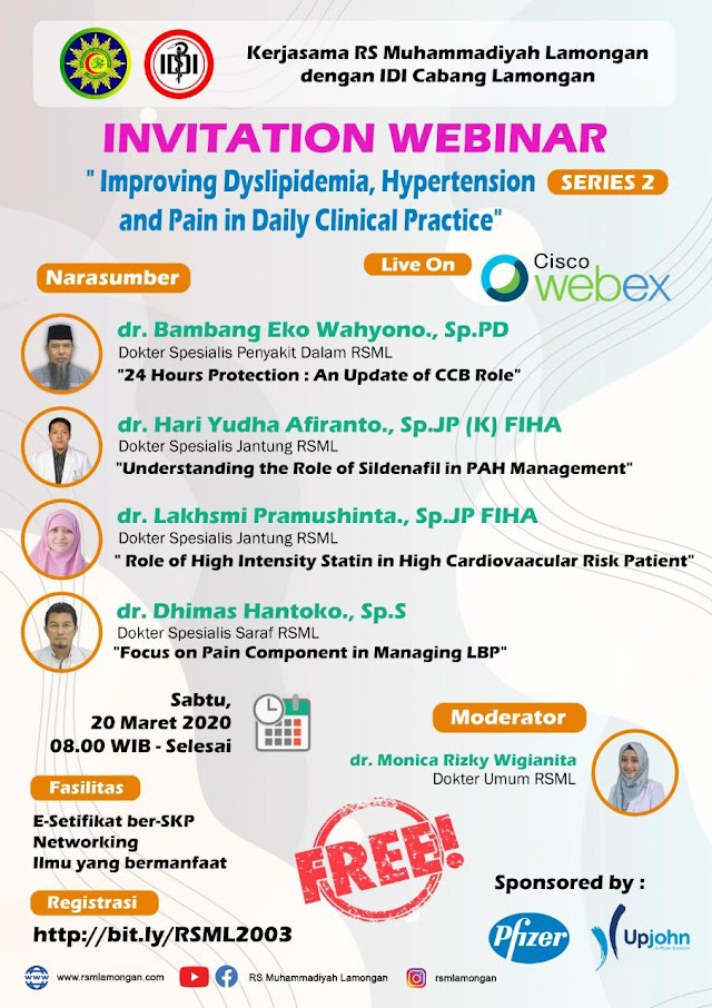 (Gratis 4 SKP IDI) *Improving Dyslipidemia, Hypertension, and Pain Daily Clinical Practice*