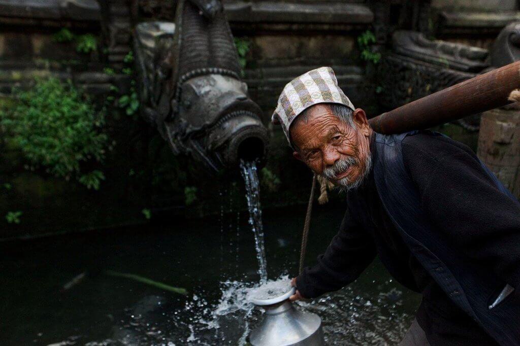 A man in Kathmandu Nepal