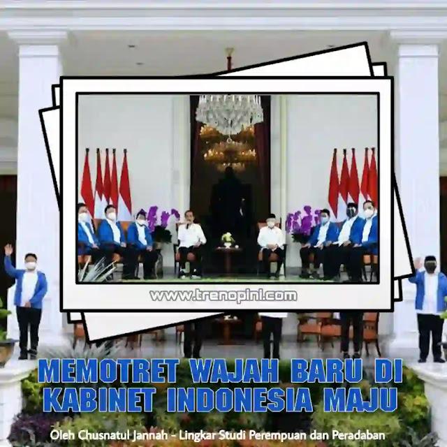 Gaya Presiden Jokowi yang penuh kejutan tersaji saat ia mengumumkan reshuffle kabinet Indonesia Maju. Wajah 6 menteri baru siap mengisi kekosongan dan kinerja yang ditinggalkan menteri lama. Diantara mereka ialah Muhammad Lutfi sebagai Menteri Perdagangan; Sandiaga Salahuddin Uno sebagai Menteri Pariwisata dan Ekonomi Kreatif; Tri Rismaharini sebagai Menteri Sosial; Yaqut Cholil Qoumas sebagai Menteri Agama; Sakti Wahyu Trenggono sebagai Menteri Kelautan dan Perikanan; Budi Gunadi Sadikin sebagai Menteri Kesehatan.