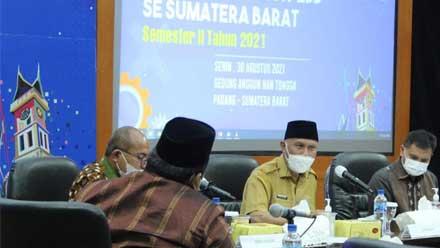 Mahyeldi dalam Rapat Koordinasi TP2DD kedua se-Sumbar