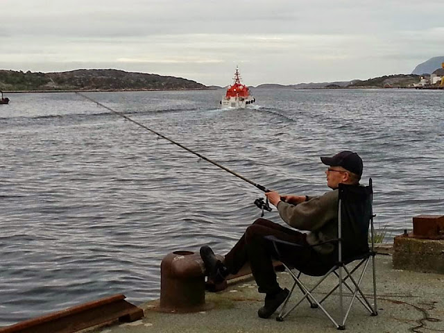 Fishing from the docks in Kristiansund