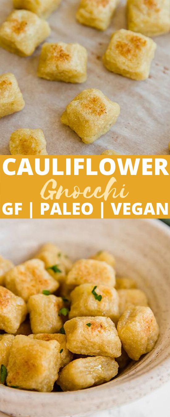 Cauliflower Gnocchi (Paleo, AIP, Vegan, Trader Joe's Copycat) #vegan #recipes #healthy #paleo #eggless