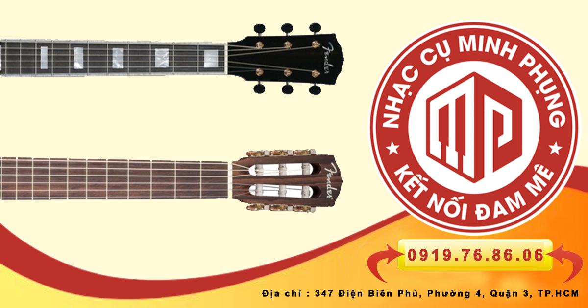 Cần đàn guitar acoustic và guitar classic khác nhau chỗ nào
