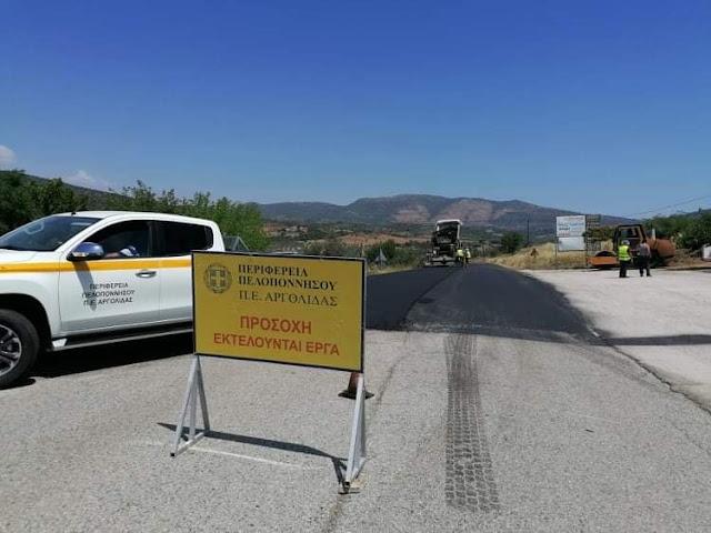 Αργολίδα: Ασφαλτοστρώσεις στην επαρχιακή οδό Λυγουριό - Τραχειάς - Κρανιδίου