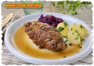 Gorgonzola beef rolls