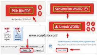 Cara Merubah PDF Ke Word Online