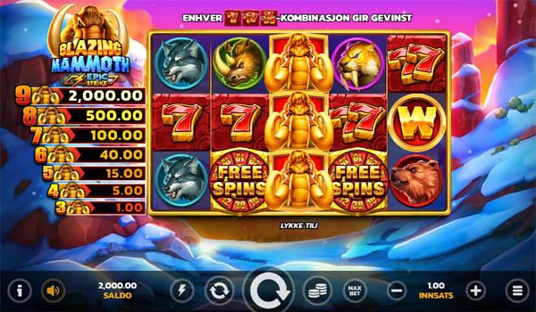 Main Gratis Slot Indonesia - Blazing Mammoth Epic Strike Microgaming