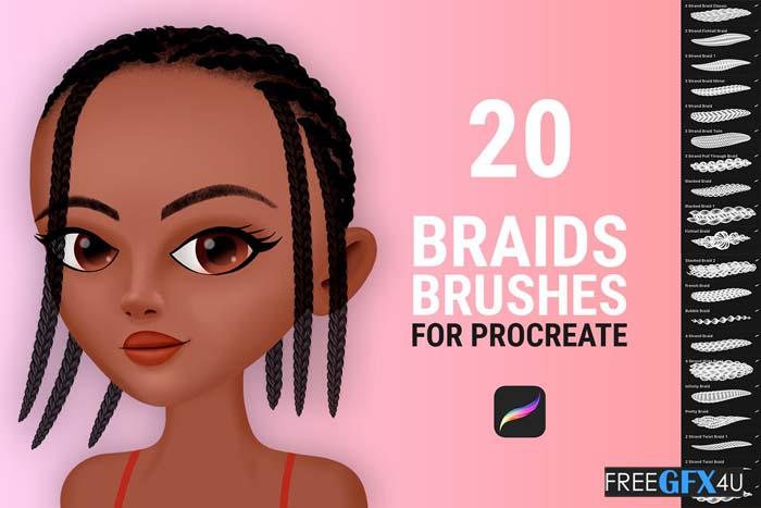 Braid Brushes for Procreate