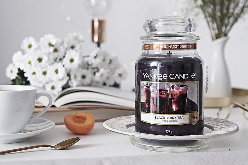 yankee candle blackberry tea duża świeca zapachowa