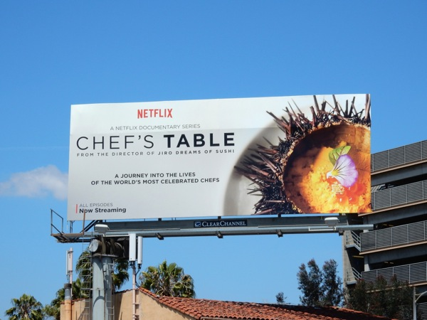 Chefs Table series launch billboard