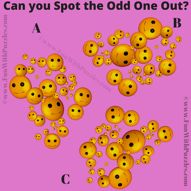 In this Picture Puzzle, your challenge is to spot the odd one out among the given three similar looking pictures