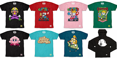 Nintendo Switch Video Game T-Shirt Collection by Johnny Cupcakes