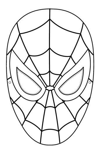 Spiderman Face Free Printable Template