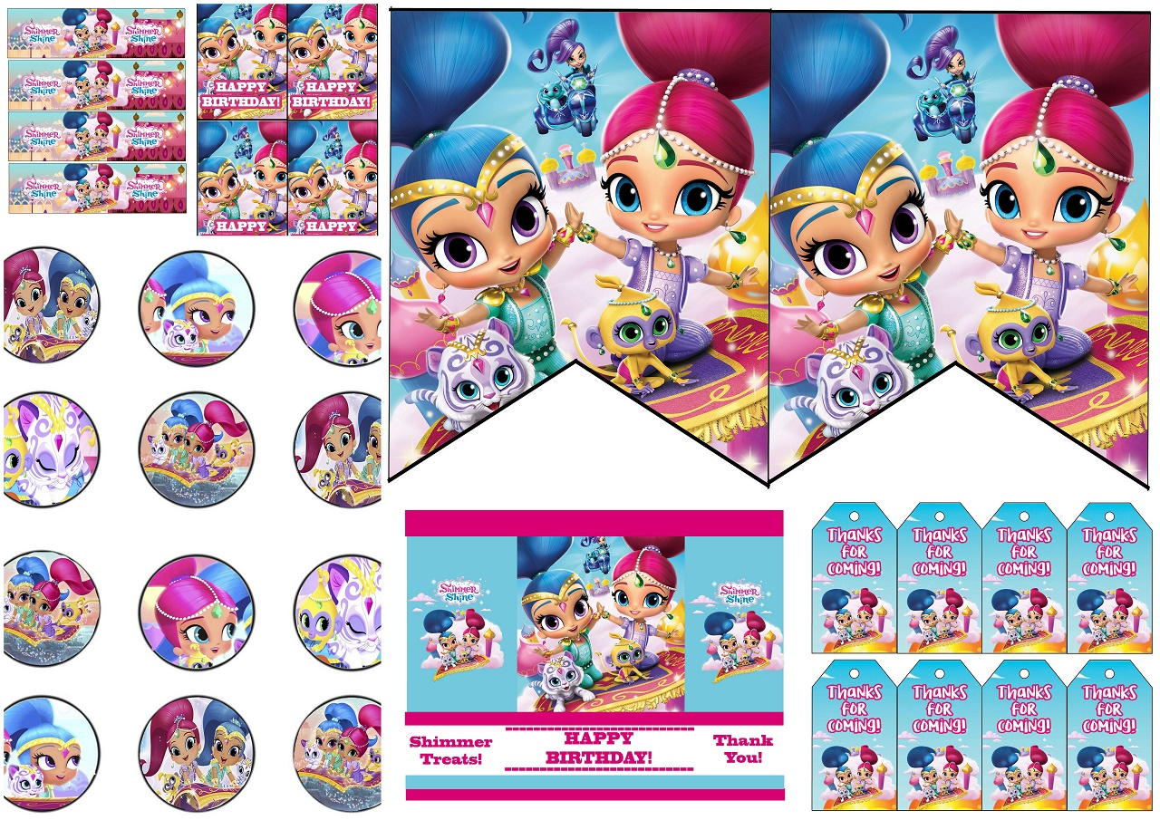 Shimmer And Shine Party Free Printable Mini Kit Oh My Fiesta