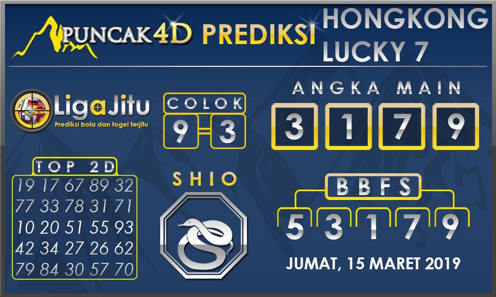 PREDIKSI TOGEL HONGKONG LUCKY7 PUNCAK4D 15 MARET 2019
