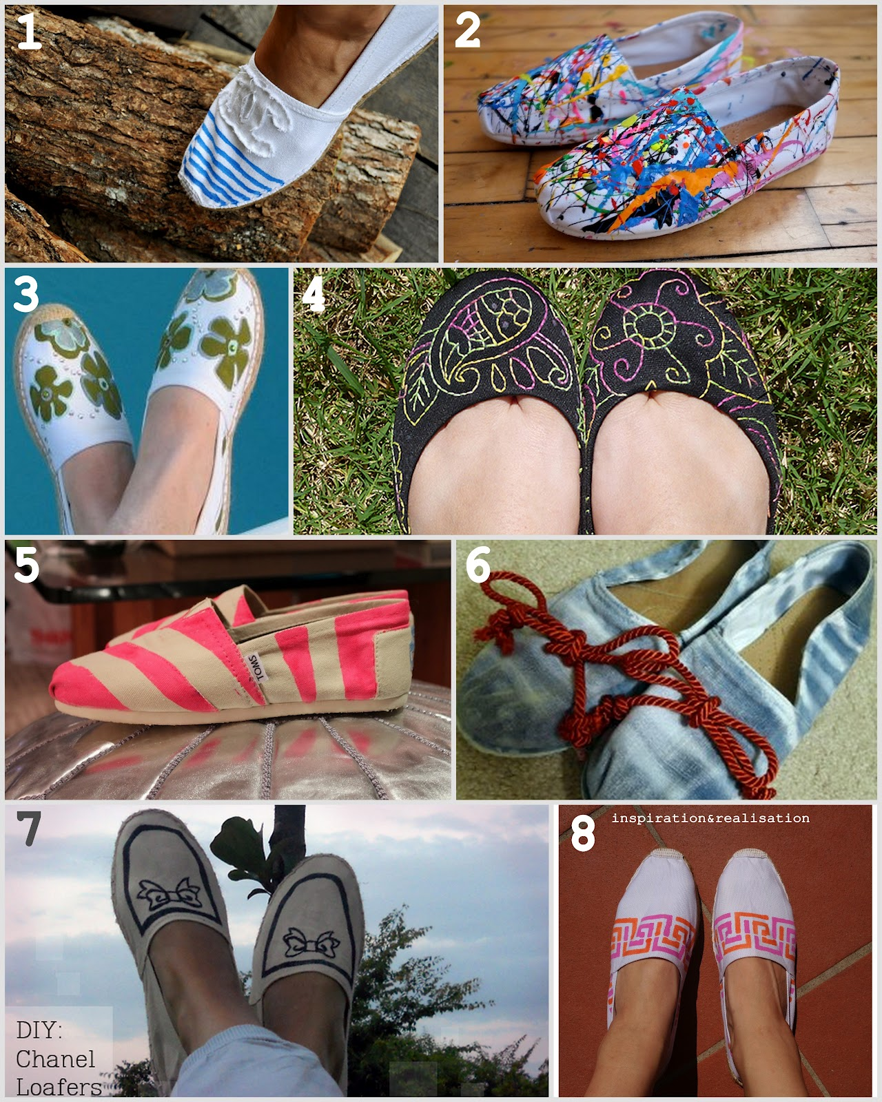 ... and realisation: DIY fashion blog: 8 of my favorite canvas shoes DIY
